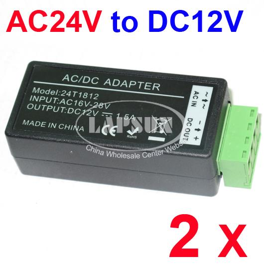 2-PCS-AC-24V-to-DC-12V-Power-Converter-Adapter-Balun-for-CCTV-Security-Camera-AU
