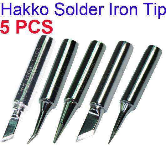 5pcs solder iron point tip for hakko soldering rework atten quick station 900. Black Bedroom Furniture Sets. Home Design Ideas