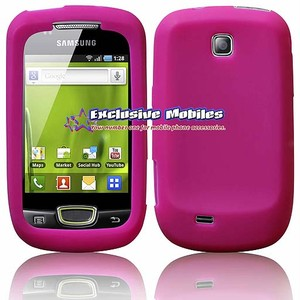 PINK SILICONE CASE COVER FOR SAMSUNG GALAXY MINI S5570