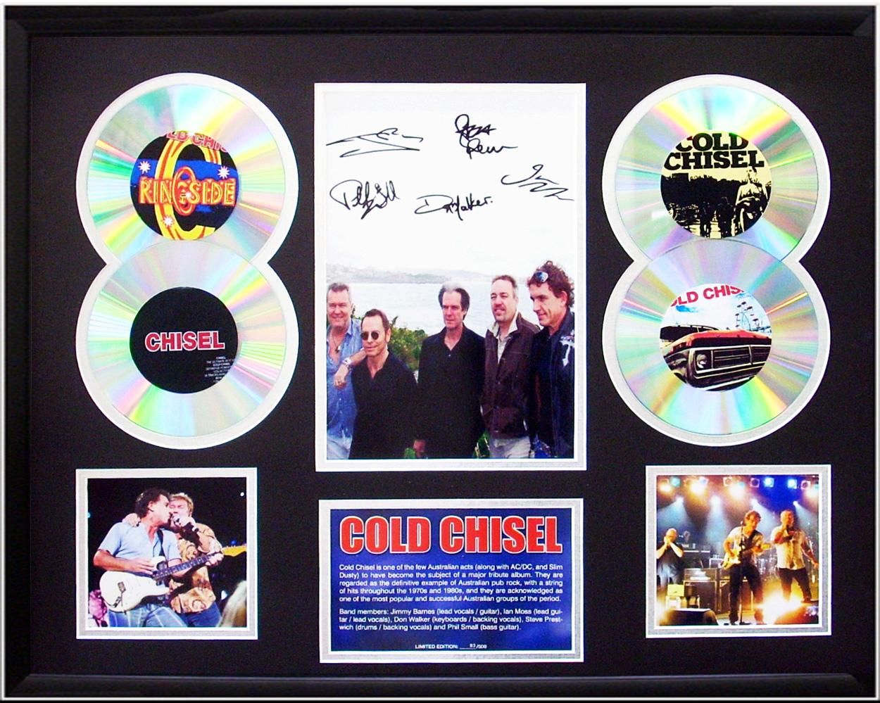 Cold-Chisel-framed-Limited-Ed-signed-CD-Photo-Display