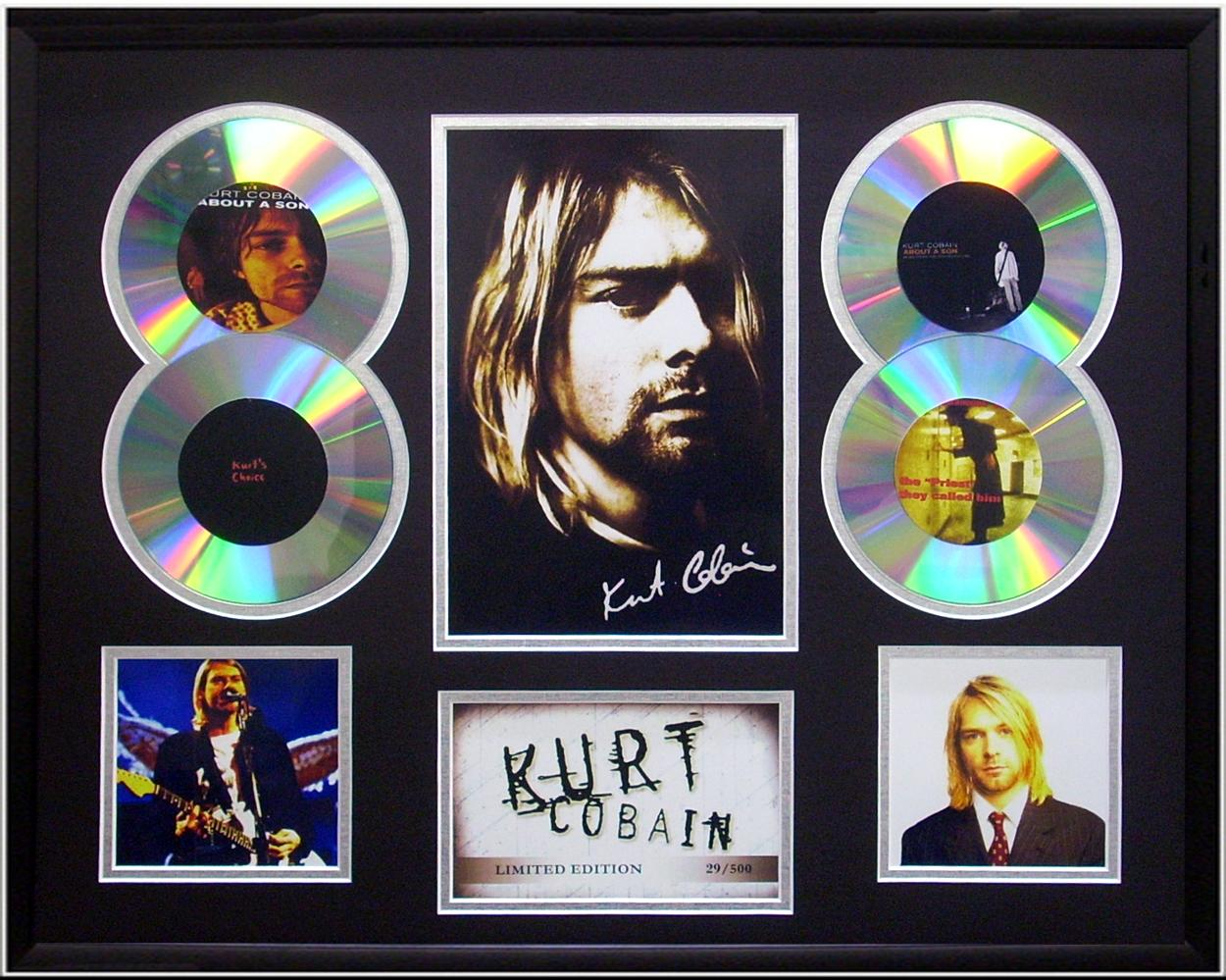 Kurt-Cobain-framed-Limited-Ed-signed-CD-Photo-Display