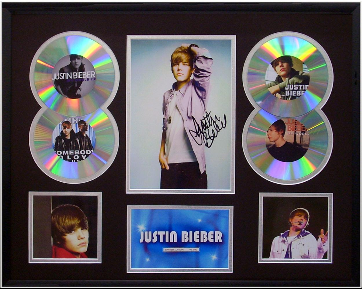Justin-Bieber-framed-Limited-Ed-signed-CD-Photo-Display