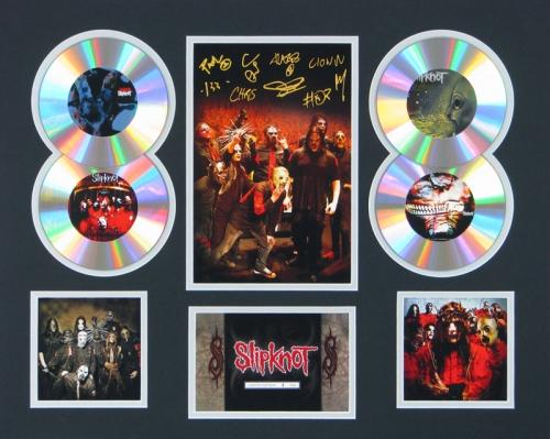 Slipknot-Signed-Framed-Limited-Edition-CD-Photo-Display