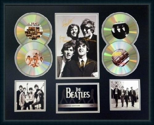 The-Beatles-Signed-Limited-Edition-4-CD-Photo-Display