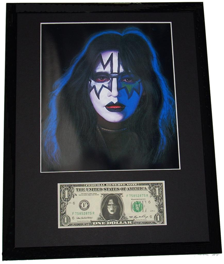 Ace-Frehley-Kiss-Rock-Music-Framed-Image-US-Dollar