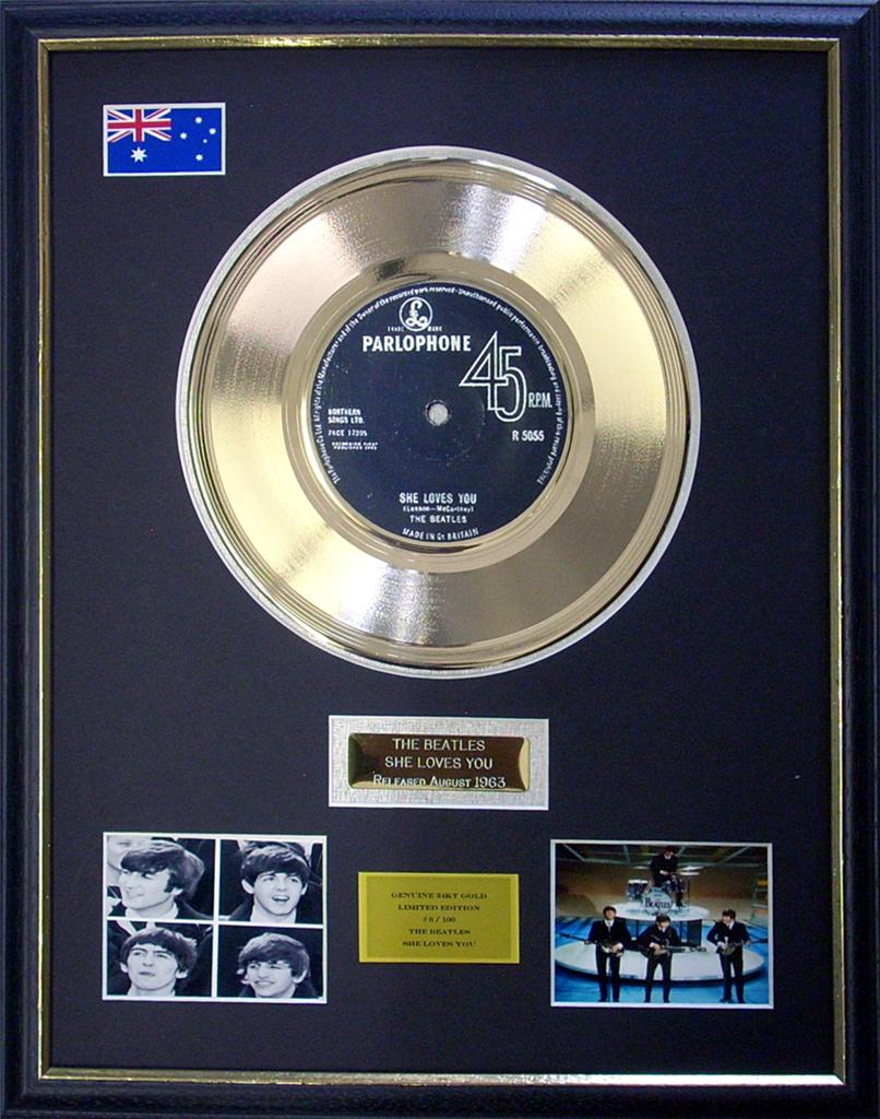 The-Beatles-She-Loves-You-Limited-Edition-Framed-24KT-Gold-Record-Display