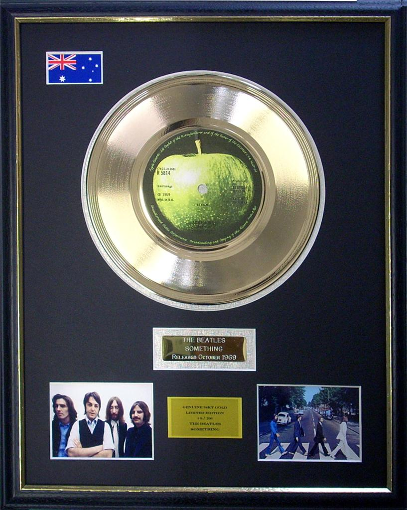 The-Beatles-Something-Ltd-Edition-Framed-24KT-Gold-Record-Display