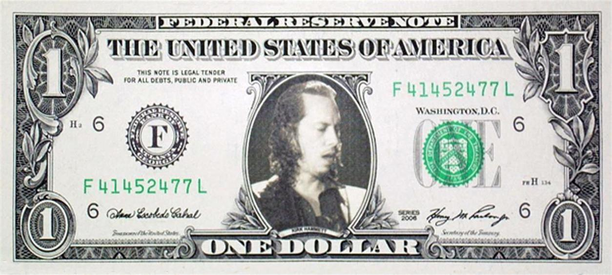 Kirk-Hammett-Metallica-Genuine-Real-US-Dollar-Bill