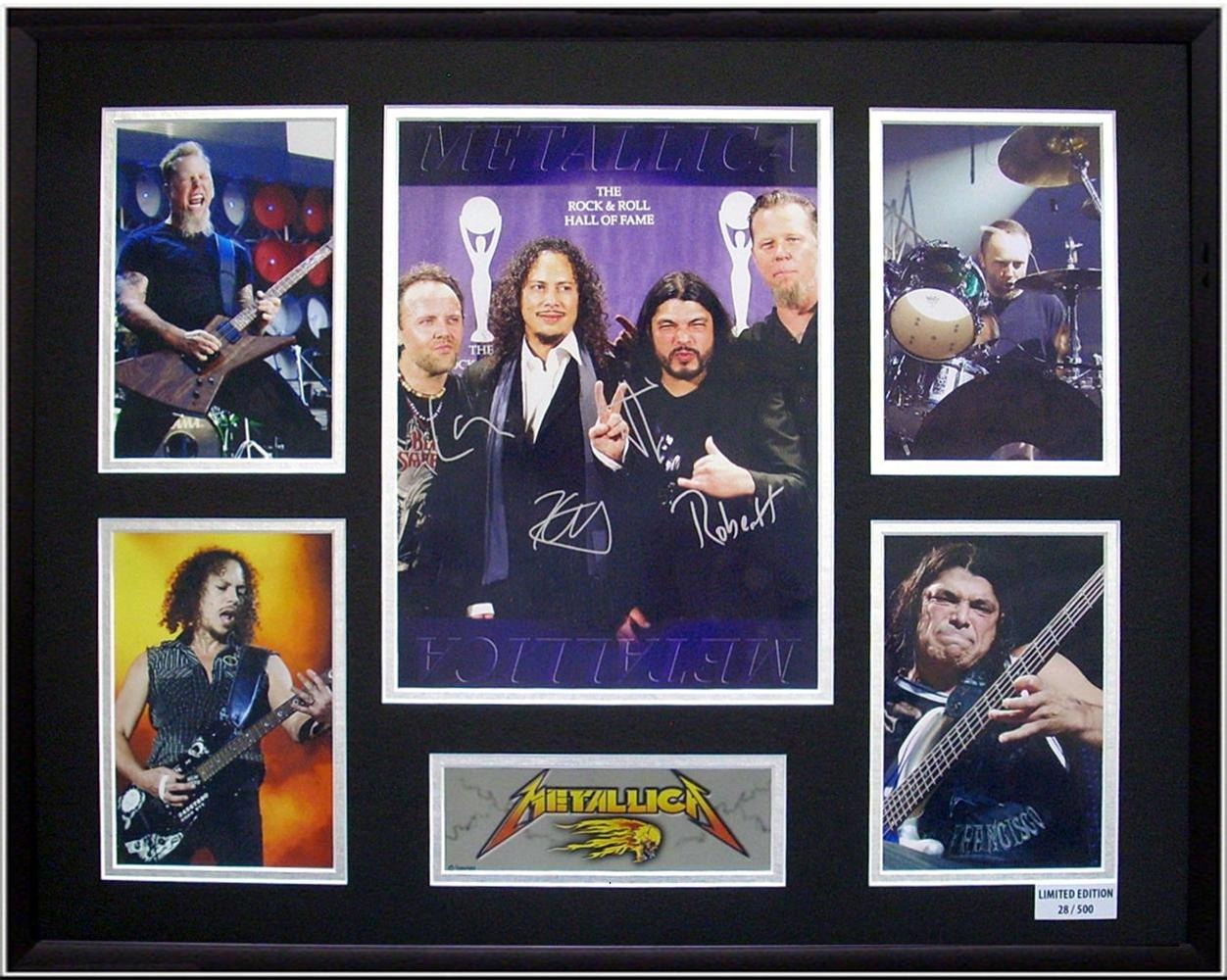 Metallica-Ltd-Ed-Framed-Picture-Display-Presentation