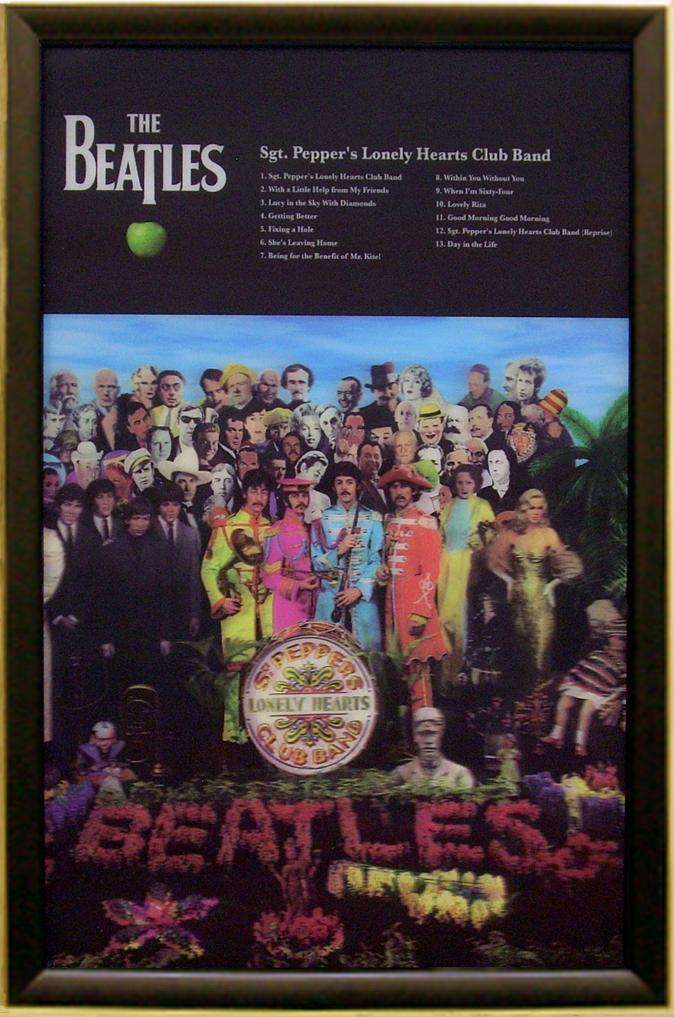 The-Beatles-Sergeant-Pepper-Framed-3-D-Lenticular-Print-Memorabilia-Display