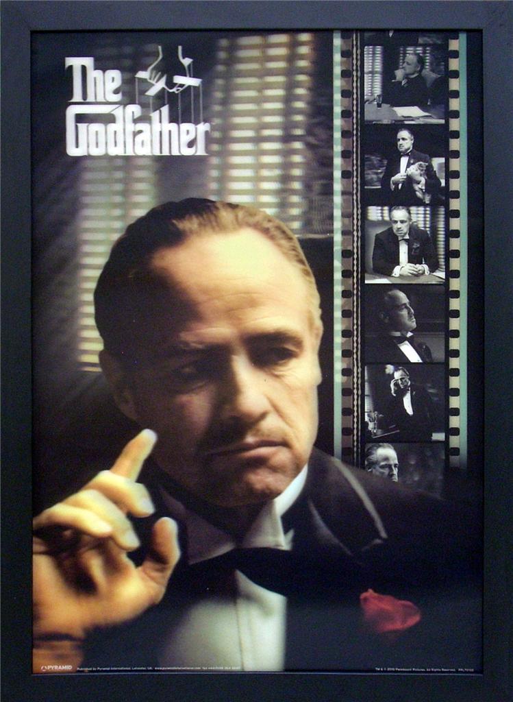 Details about The Godfather Marlon Brando Framed 3-D Lenticular Print ...