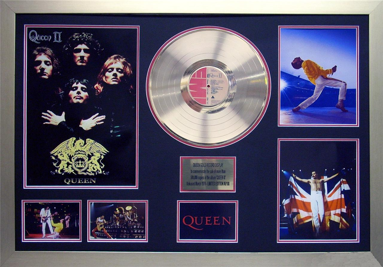 Queen-Queen-2-24KT-Gold-12-inch-Record-Album-Framed-Memorabilia