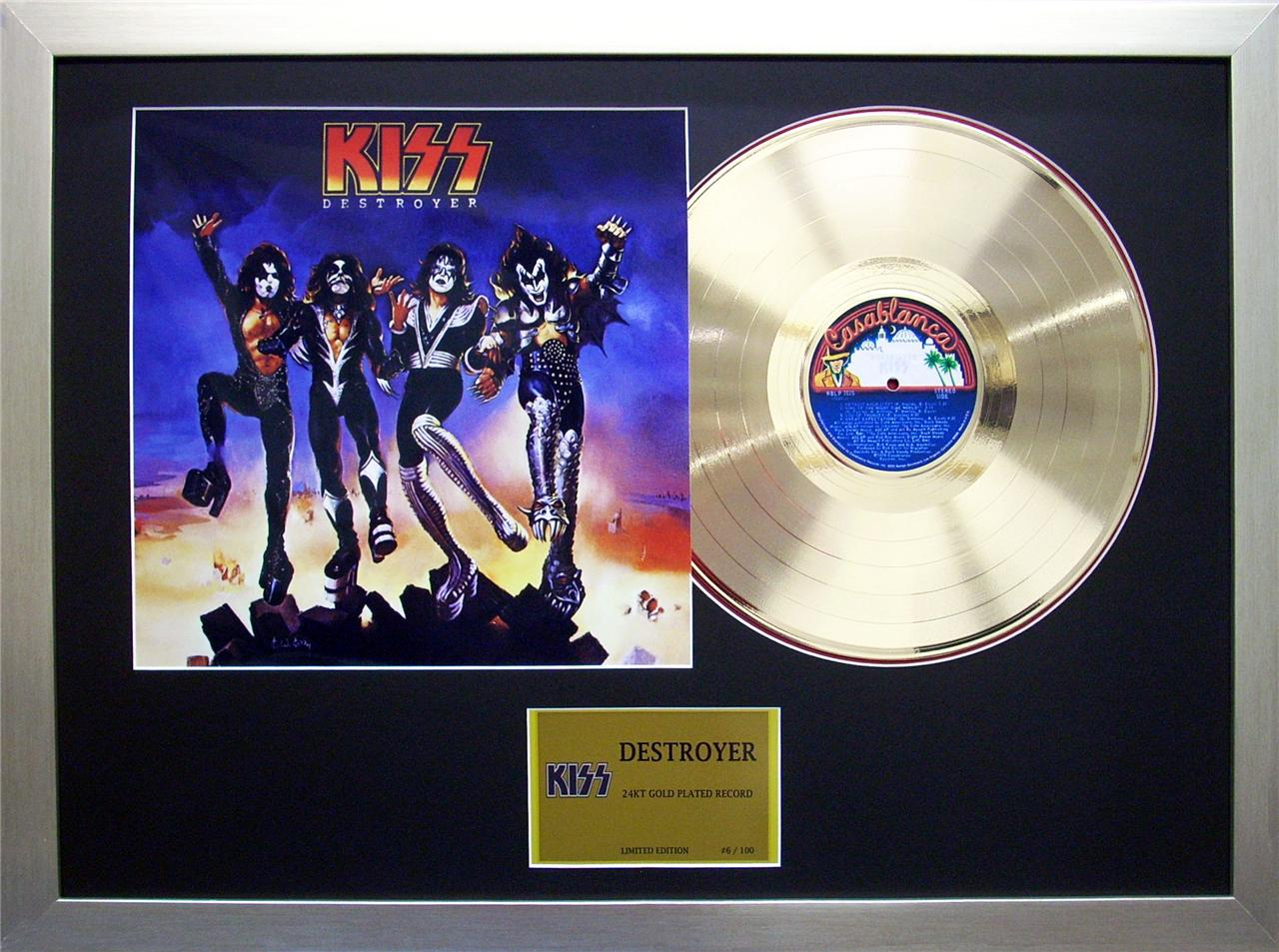 KISS-Destroyer-24KT-Gold-Plated-12-inch-Record-Framed-Memorabilia