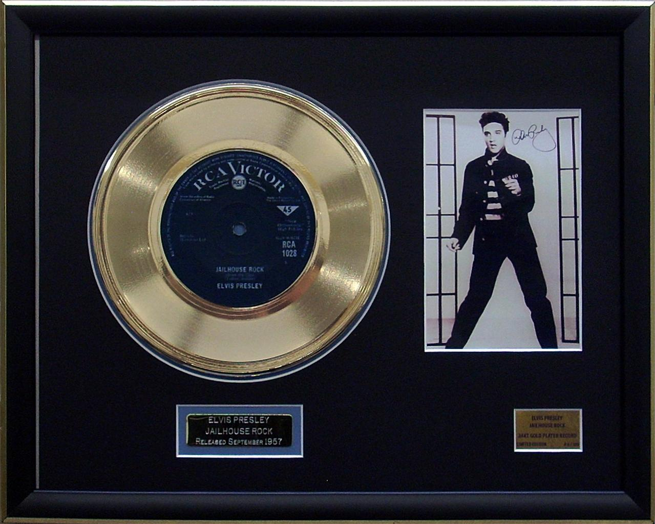 Elvis-Presley-Jail-House-Rock-Limited-Edition-Framed-24KT-Gold-Plated-Record