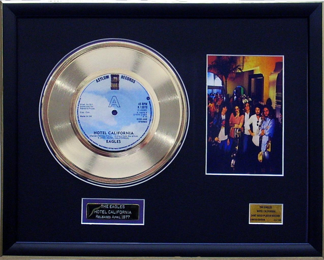 The-Eagles-Hotel-California-Limited-Edition-Framed-24KT-Gold-Plated-Record