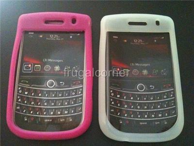 Verizon Blackberry 9600 9630 Tour Silicone Gel Case Pink+White