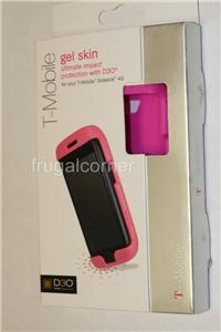 OEM D3O T Mobile Sidekick 4G Pink High Impact Silicone Gel Case