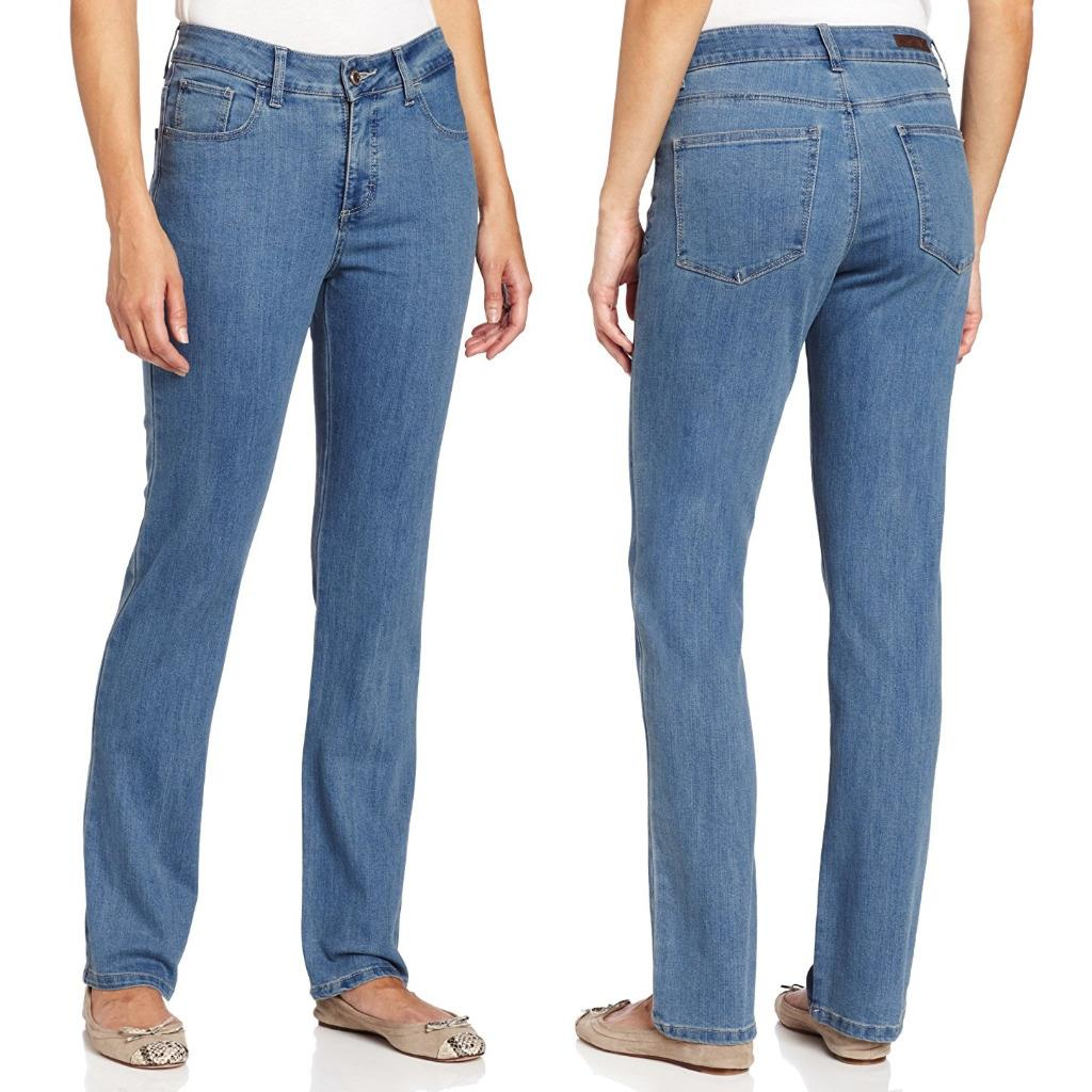 Lee Jeans Womens Classic Fit Straight Leg Pants Stretch