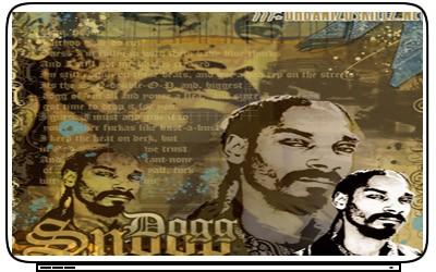 Snoop Dog Rap Laptop Netbook Skin Cover Sticker Decals