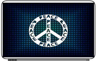Logo Peace Sign Laptop Netbook Skin Decal Cover Sticker