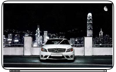 Cars Mercedes C63 AMG Laptop Netbook Skin Cover Sticker