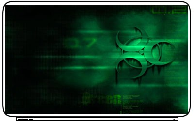 Toxic Radiation Nuclear Logo Laptop Netbook Skin Cover Sticker Decal
