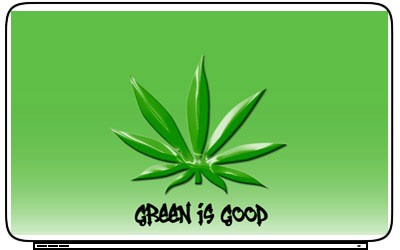 Marijuana Drugs Weed Get High Art Laptop Netbook Skin Cover Sticker