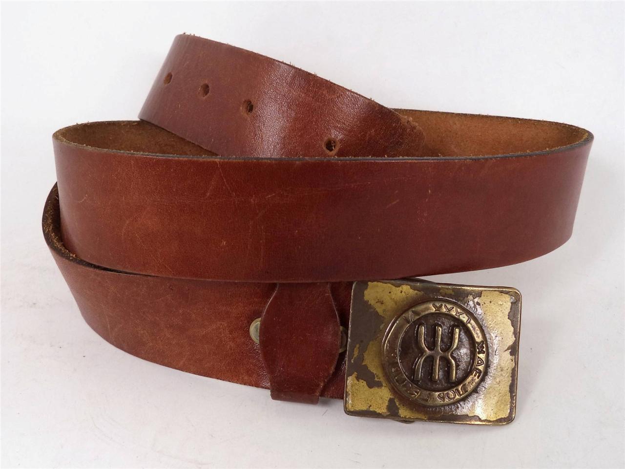 mens quality vintage chunky brown worn in western