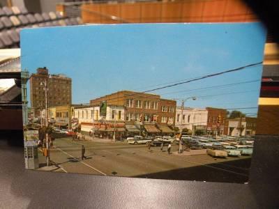 vintage postcard walnut and center streets goldsboro nc