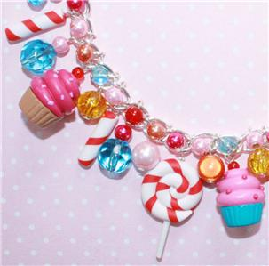KATY PERRY COSTUME CUPCAKE CHARM BRACELET on eBay by Lavish-Accessories :  candy jewellery candy cane bracelet cake charm bracelet scene charm bracelet