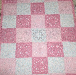 New! Hand Crocheted BABY AFGHAN BLOCK PATTERN blanket you ...