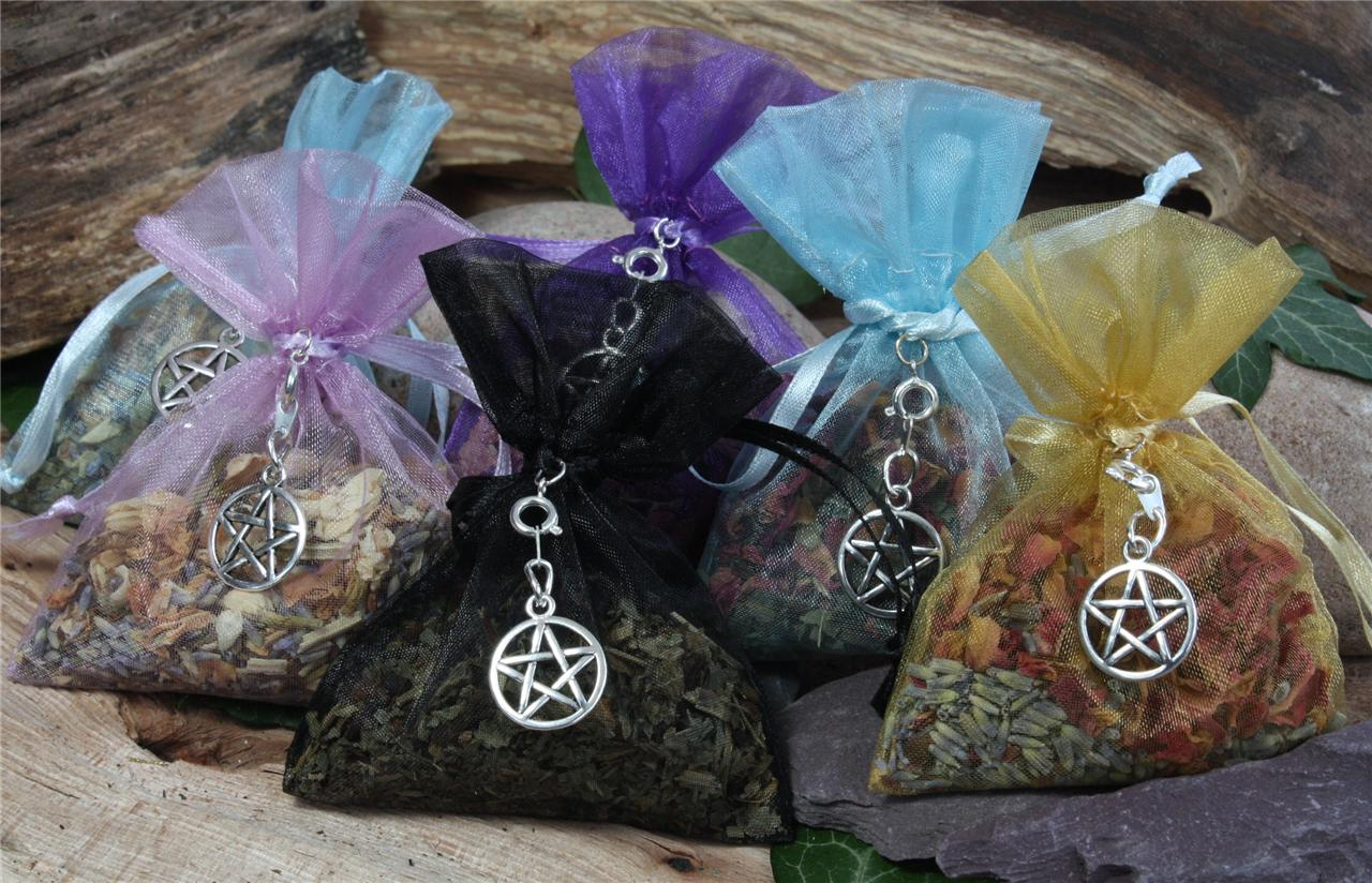 herb charm bags six to choose from list wicca pagan with