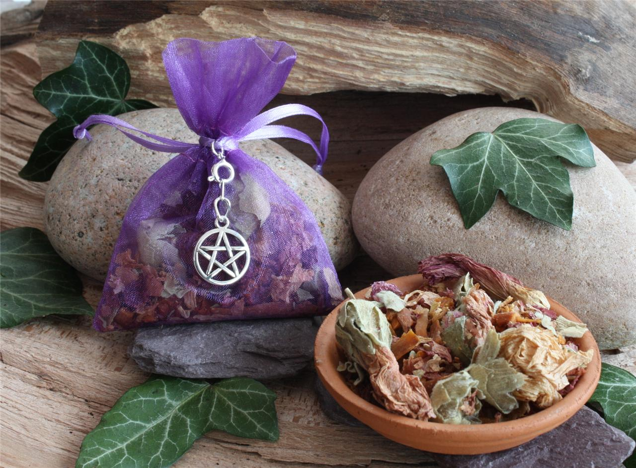 magick herb charm bags six to choose from list wicca pagan