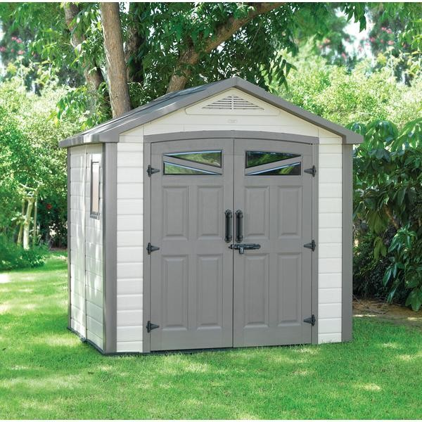 New keter bellevue garden outdoor storage shed ebay for Garden shed keter