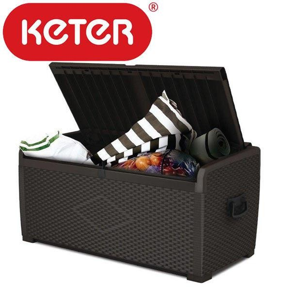 Details About Durable Keter XL 400L Outdoor Garden Storage Box Bench