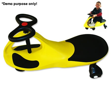 NEW-Childrens-Boys-Girls-Swing-Car-Slider-Fun-Ride-On-Toy-with-Foot-Mat-Yellow