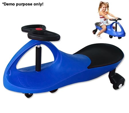NEW-Childrens-Boys-Girls-Swing-Car-Slider-Fun-Ride-On-Toy-with-Foot-Mat-Blue