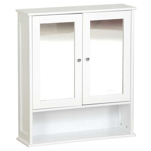 new stylish bathroom mirror 2 door wall cabinet white ebay