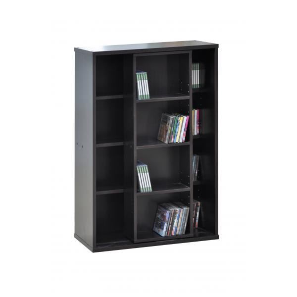 New modern dvd storage shelf unit cabinet cupboard colour espresso ebay - Delectable images of cool dvd rack for living room and interior decoration ...