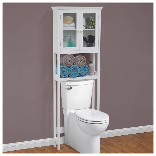 New over the toilet bathroom storage cabinet shelves rack for Bathroom over the toilet shelf