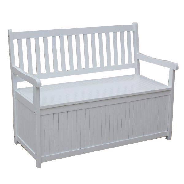 New Outdoor Garden Bench Hardwood With Storage Box Seat Chair White Ebay