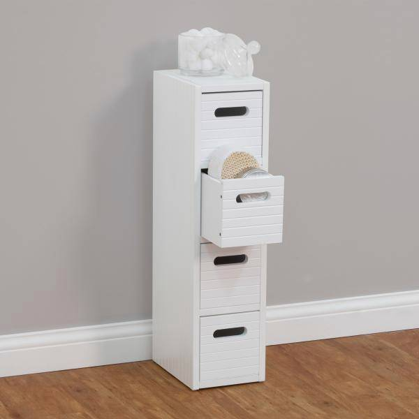 new mila 4 drawer slim floor cabinet perfect for bathroom storage