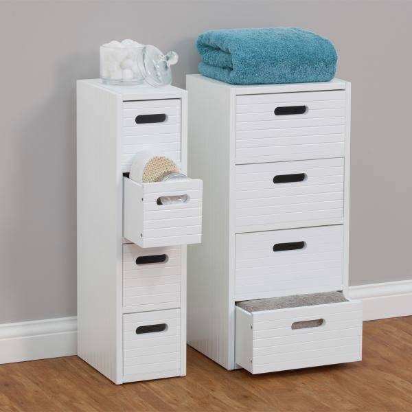 drawer wide floor cabinet perfect for bathroom storage white ebay