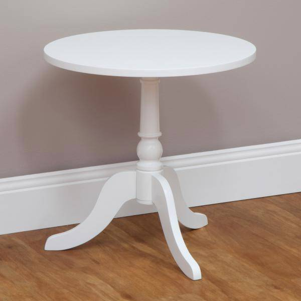 New The Hampton Round Side Coffee Table Gloss Painted Finish White Ebay