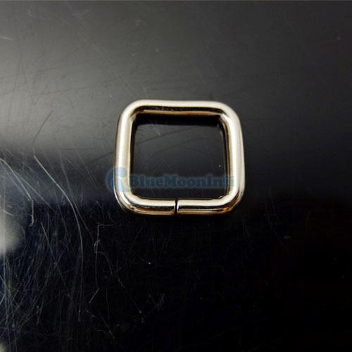"""25 50 100 PCS 1"""" 3/4"""" 5/8"""" 1/2"""" Inch Rectangle No Welded Dee Ring Metal Square"""