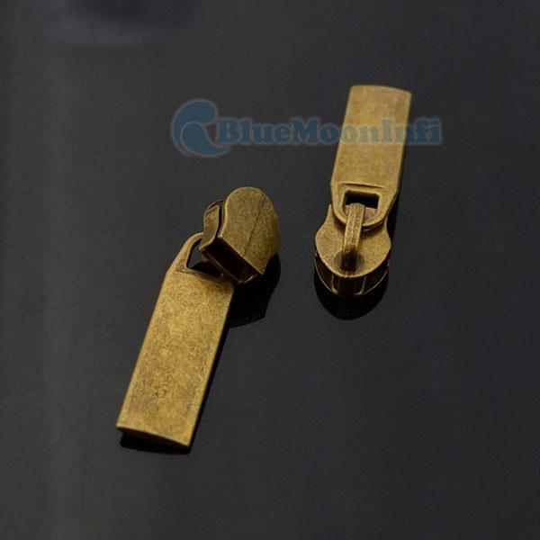 20 50 100 pcs #5 Molded Zipper Puller Slider Pull 4 Repair Replace Kit Stop