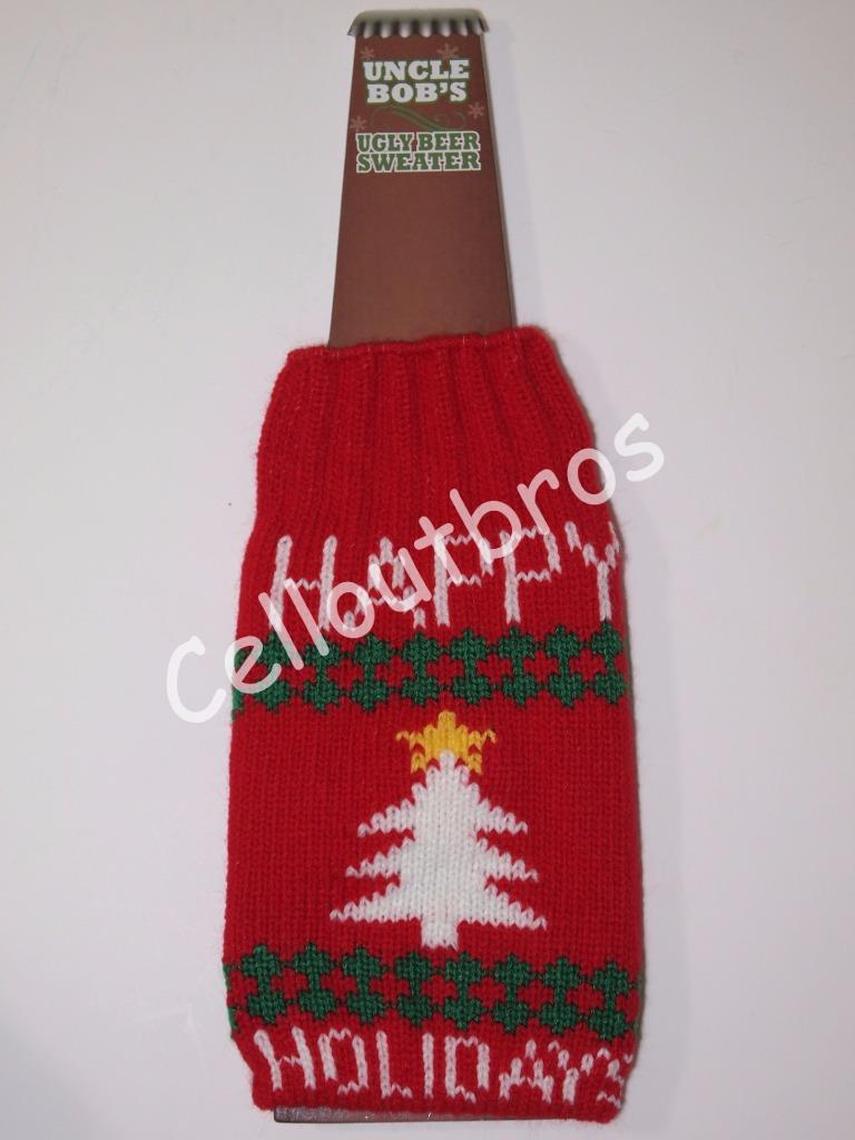 Uncle Bob 39 S Ugly Holiday Christmas Sweater Beer Coozie 6 Styles Available Ebay