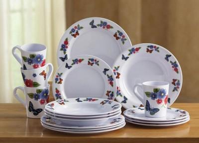 Http Ebay Com Itm New 16 Pc Butterfly Melamine Dinnerware Set Plates Cups Bowls Kitchen Decor 170782881913