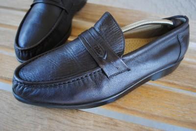 mens sas slip on dress shoes loafers sz 12 w wide soft