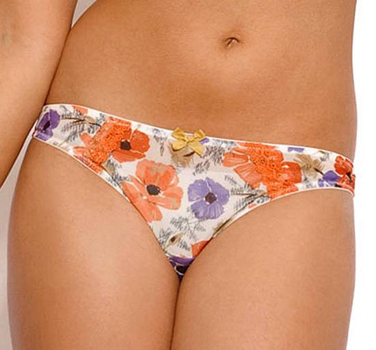 New-Panache-Cleo-Poppy-Thong-Orange-Floral-RRP-14-Free-UK-Postage